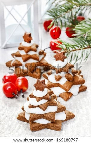 Gingerbread Christmas Trees Beautiful Xmas Dessert Stock Photo (Edit ...