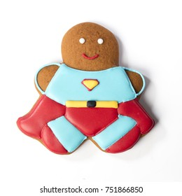 Gingerbread classic cookie super hero
