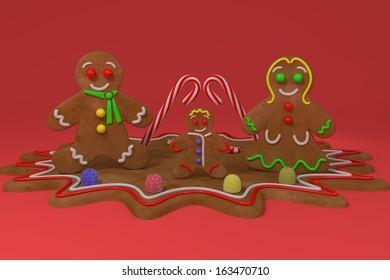 GingerBread Family - Illustration.