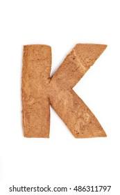 Gingerbread font. Letter K.