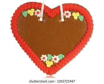 Gingerbread Heart without Scripture on white Background