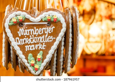 Gingerbread Hearts at Nuremberg Christmas Market