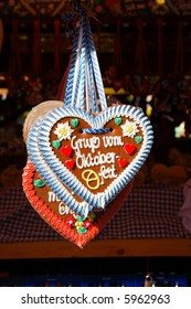 gingerbread hearts, Oktoberfest greetings from Munich, Germany