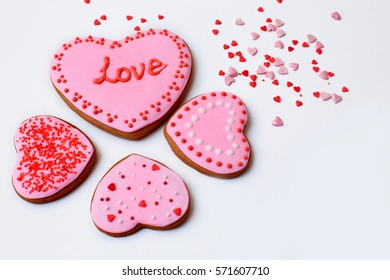 gingerbread hearts for Valentine's day