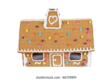 Gingerbread House Isolated On White