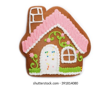 gingerbread house on an isolated background