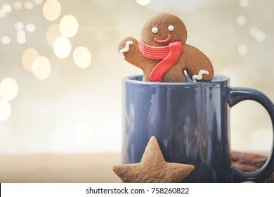 Gingerbread Man Christmas Cookie in mug