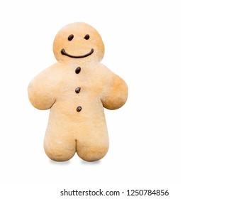Gingerbread man - traditional sweet biscuits sprinkled with powdered sugar