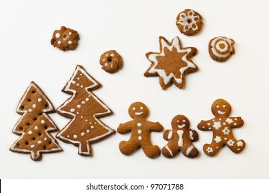Gingerbread Men with Star and Christmas trees