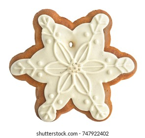 gingerbread on white background