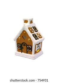 Gingerbread-house, isolated