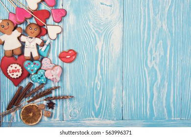 Gingerbreads Valentines Day Wedding Theme On Stock Photo Edit Now