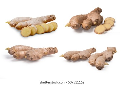 Gingers on white background