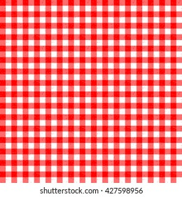 Gingham Classic Style Red and White Seamless Pattern With Speckled Effect