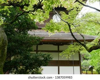 Ginkakuji Temple (aka: jishoji temple) in Kyoto