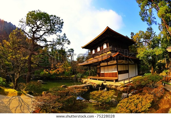 """Ginkaku-ji, the """"Temple of the Silver Pavilion,"""" is a Zen temple in the Sakyo ward of Kyoto, Japan"""