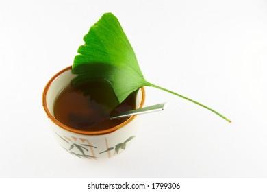 Ginko tea - downwards view