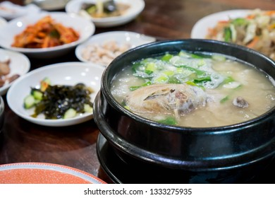 ginseng chicken soup or also known as samgyetang