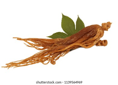 Ginseng isolated on the white background
