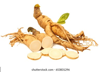 ginseng isolated on white background