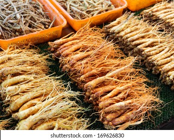 Ginseng sell in Korean market