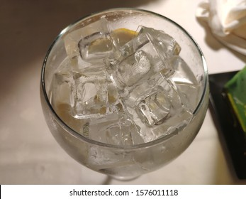 Gintonic Cubata in glass cup with many ice