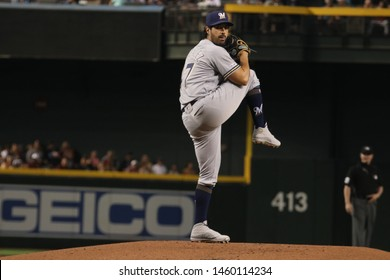 Gio Gonzalez pitcher for the Milwaukee Brewers at Chase Field in Phoenix, Arizona/USA July 21,2019.