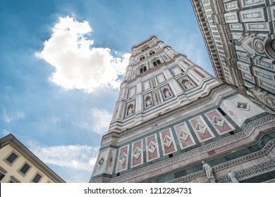 Giotto's Campanile, a bell tower which is a part of Florence Cathedral on the Piazza del Duomo in Florence, Italy.