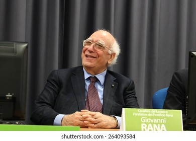 Giovanna Rana in the main hall of the university of Cassino March 23, 2011 for the inauguration of the academic year