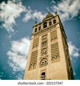 The Giralda (Bell Tower) of the Cathedral in Seville, Spain.