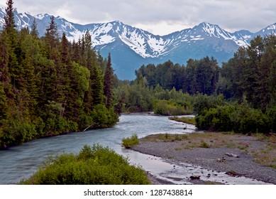 Girdwood area in Alaska, USA