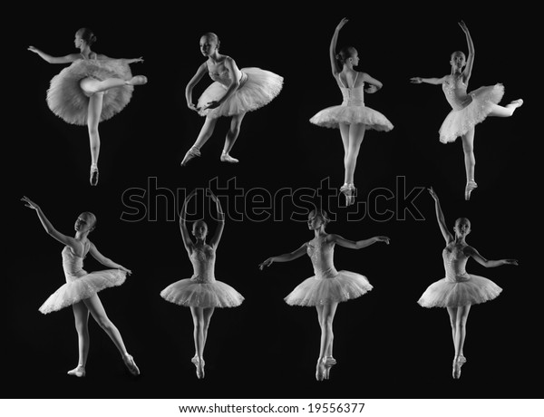 Girl 8 Classical Ballet Poses Stock Photo Edit Now 19556377