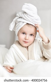Girl after bath
