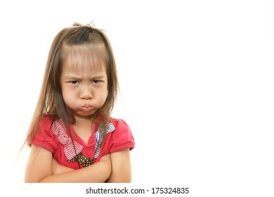 Girl angry