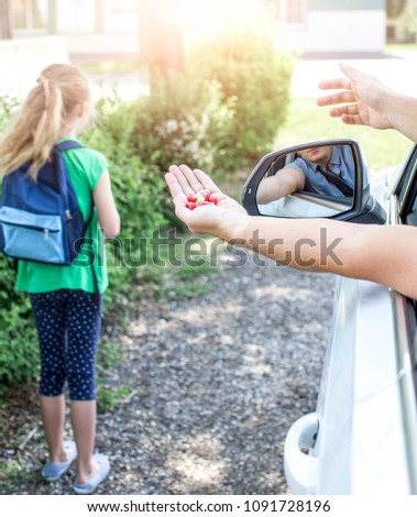 Girl is approached by
