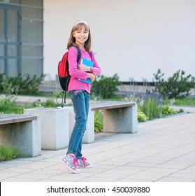 Girl back to school