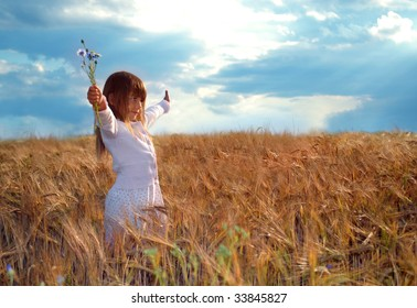 the girl in the barley field