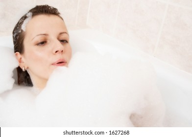 Girl in a bath