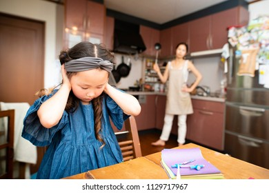 Girl to be scolded by mother