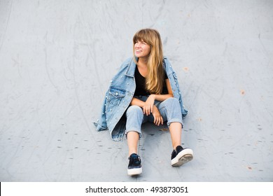 girl with beautiful hair posing