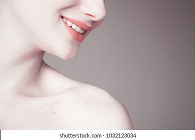 girl with beautiful white skin
