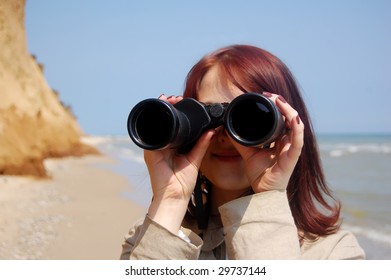Girl with  binocular 4