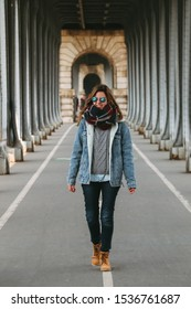 "Girl in Bir-Hakeim Bridge also known as ""Inception Bridge"", Paris, France"