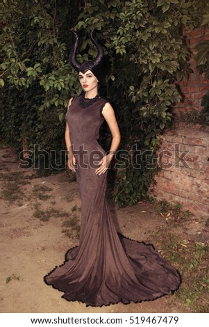 Girl Black Dress Fairy Tale About Stock Photo Edit Now 519467479
