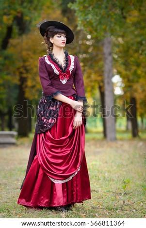 Girl Black Hair Style 19th Century Stock Photo (Edit Now) 566811364 ... b0b34e42789