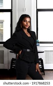 Girl in Black Office Wear