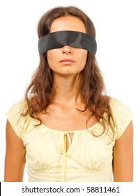 Girl with a blindfold