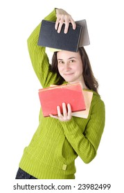 girl with the books