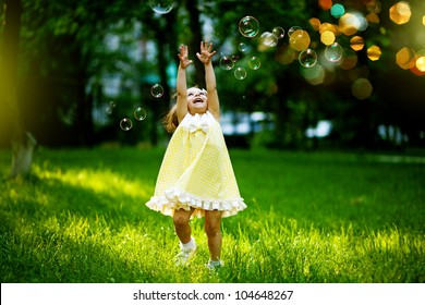 Girl with bubbles