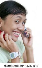 girl calling on mobile phone